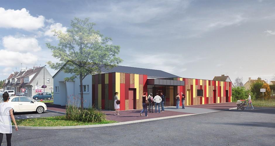 Perspective extérieure sur le projet d'extension